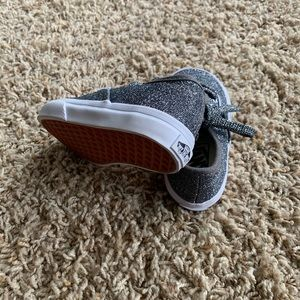 Toddler Gray Glitter Vans